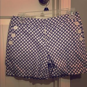 Cute Nautica shorts navy and gold pattern!